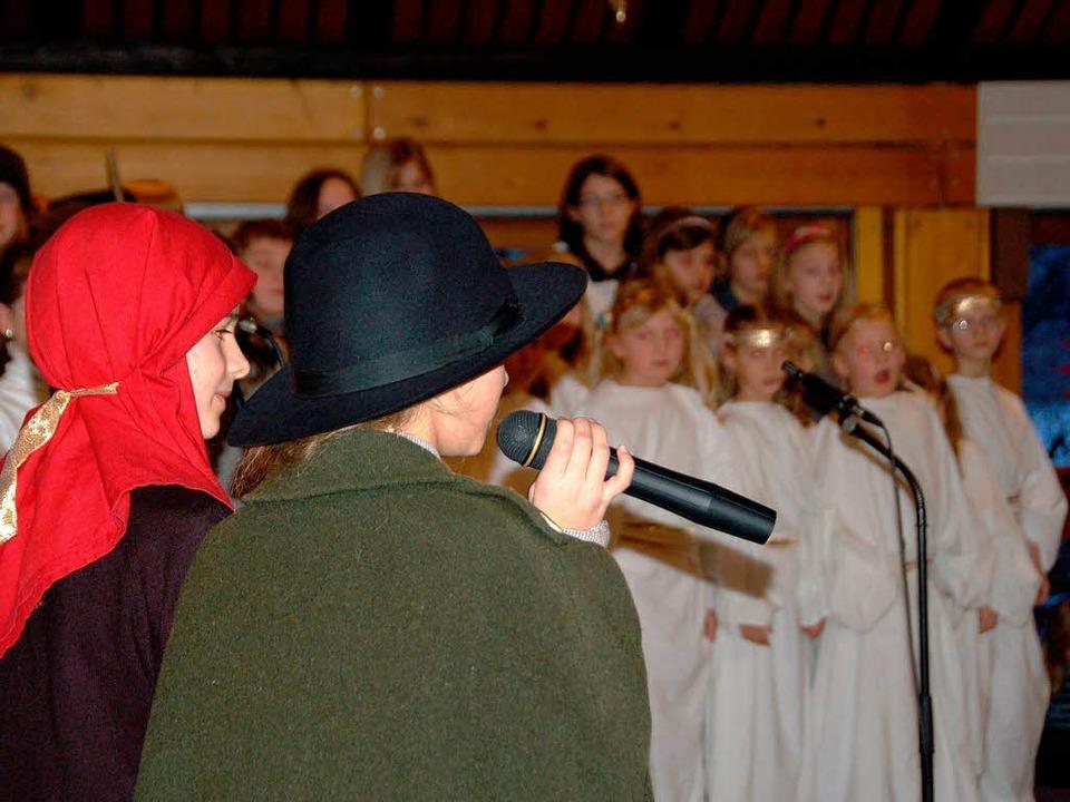 Maria und Josef auf Herbergssuche    Foto: Sylvia-Karina Jahn