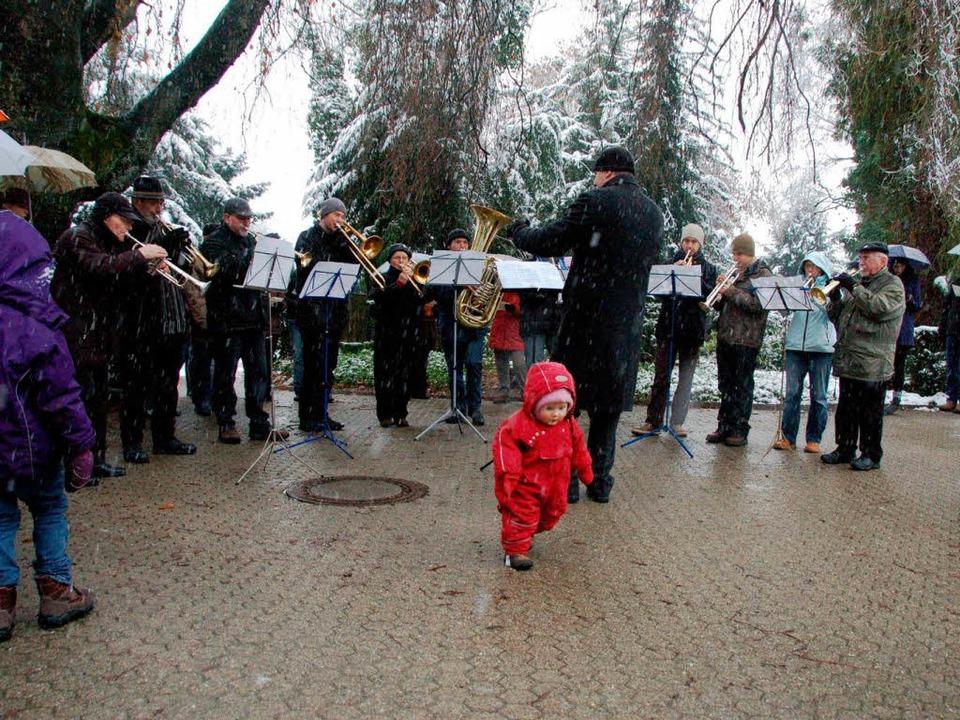 Zum 33. Mal spielte der evangelische P...hor, Klein-Marlene war erstmals dabei.  | Foto: Sylvia-Karina Jahn