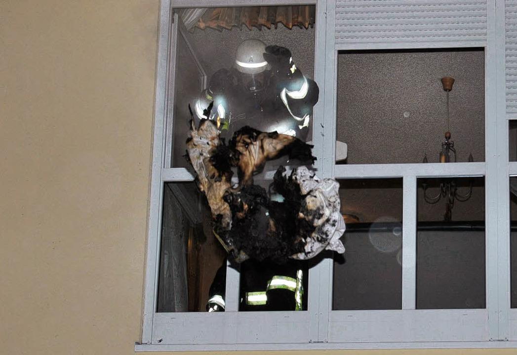 Feuerwehr einsatz anWeihnachten  | Foto: Martin Ganz