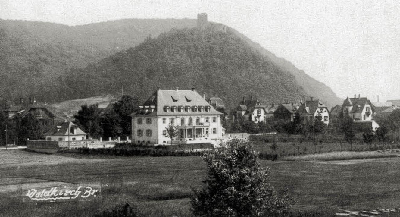 Auf diesem Foto  um 1910 aus Waldkirch...gen Villa steht heute die Stadthalle.   | Foto: W. Belz