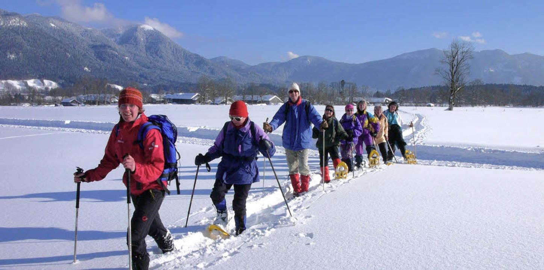 Das macht Laune: Schneeschuhwandern im Tölzer Land    Foto: tölzer land tourismus