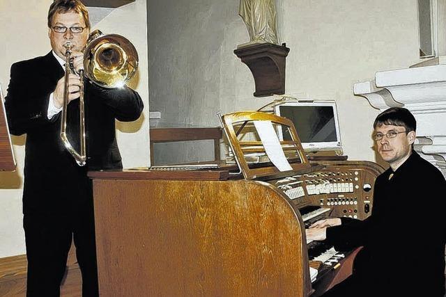 Majestätisch die Posaune, filigran die Orgel