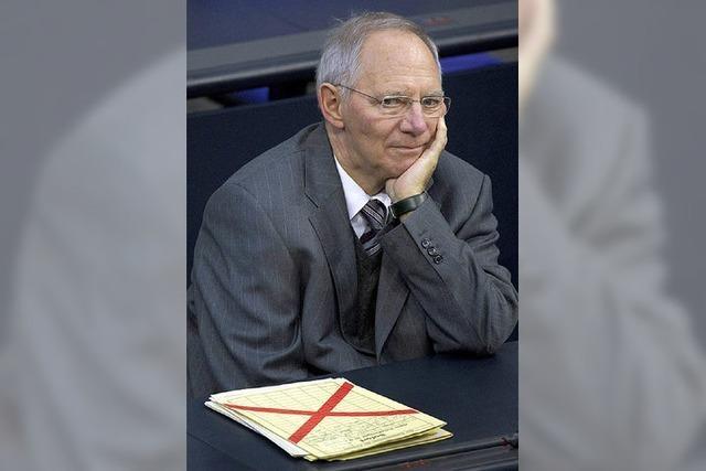 Schäuble verärgert die eigenen Leute