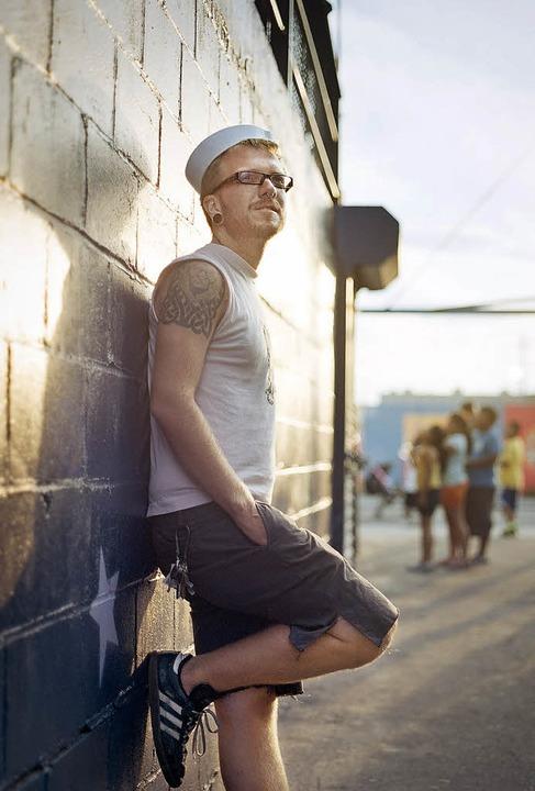 Der Gastgeber: Eddy, 25, aus Brooklyn (New York)    Foto: Malte Jäger