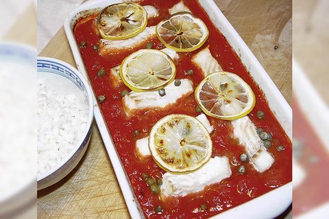 Tomatensugo mit Fisch: Fruchtig-frisch geht's los