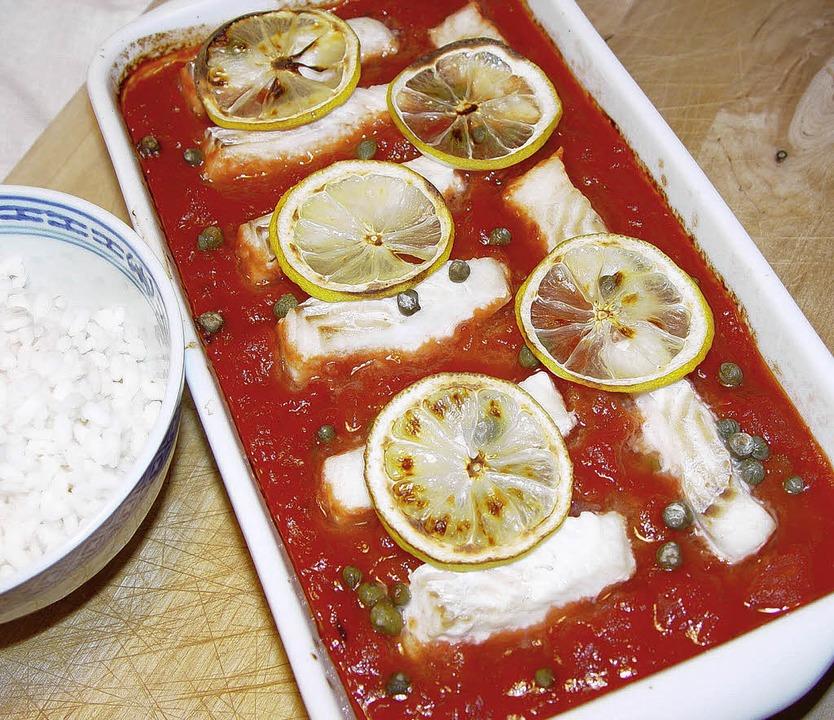 Tomatensugo mit Fisch, am besten Seelachs  | Foto: stechl