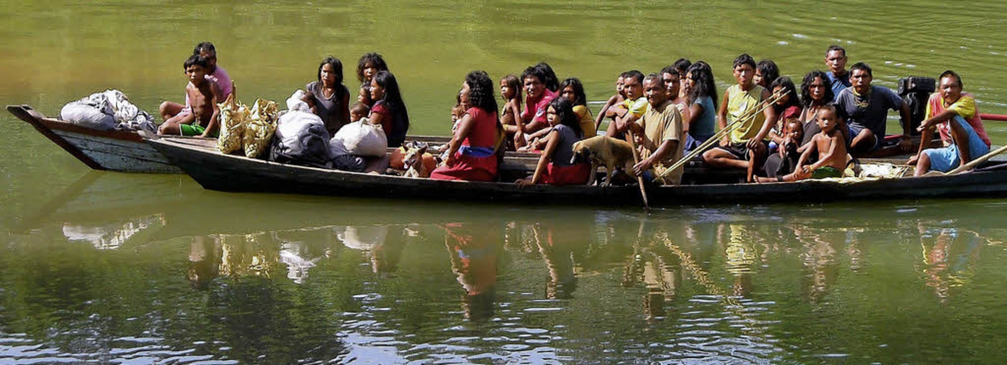 Begrüßungkomitee der Piraha  | Foto: Toninho Muricy