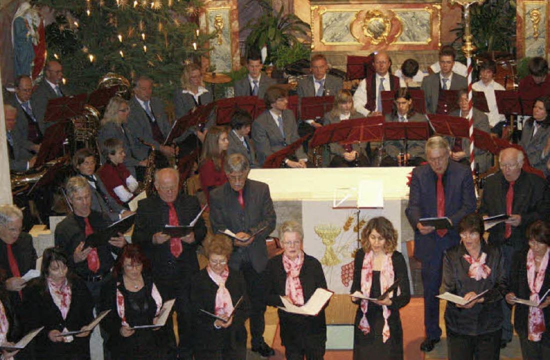 Dass der Kirchenchor Sankt Johannes un...tion konnte sich dennoch hören lassen.    Foto: Martina Faller