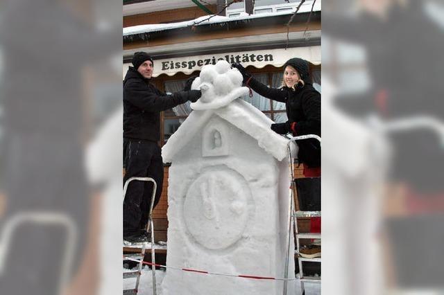 Kreativ mit Eis und Schnee