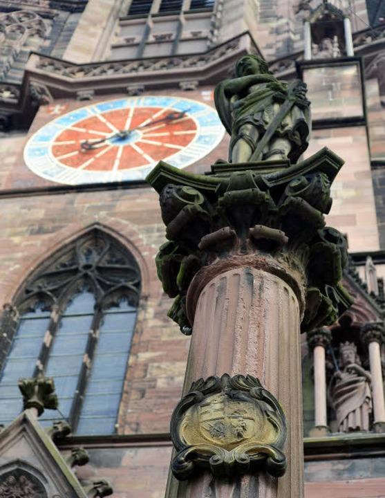 An der Säule des heiligen Alexander vo...ch, Neuenburg, Freiburg und Waldshut.     Foto: Thomas Kunz