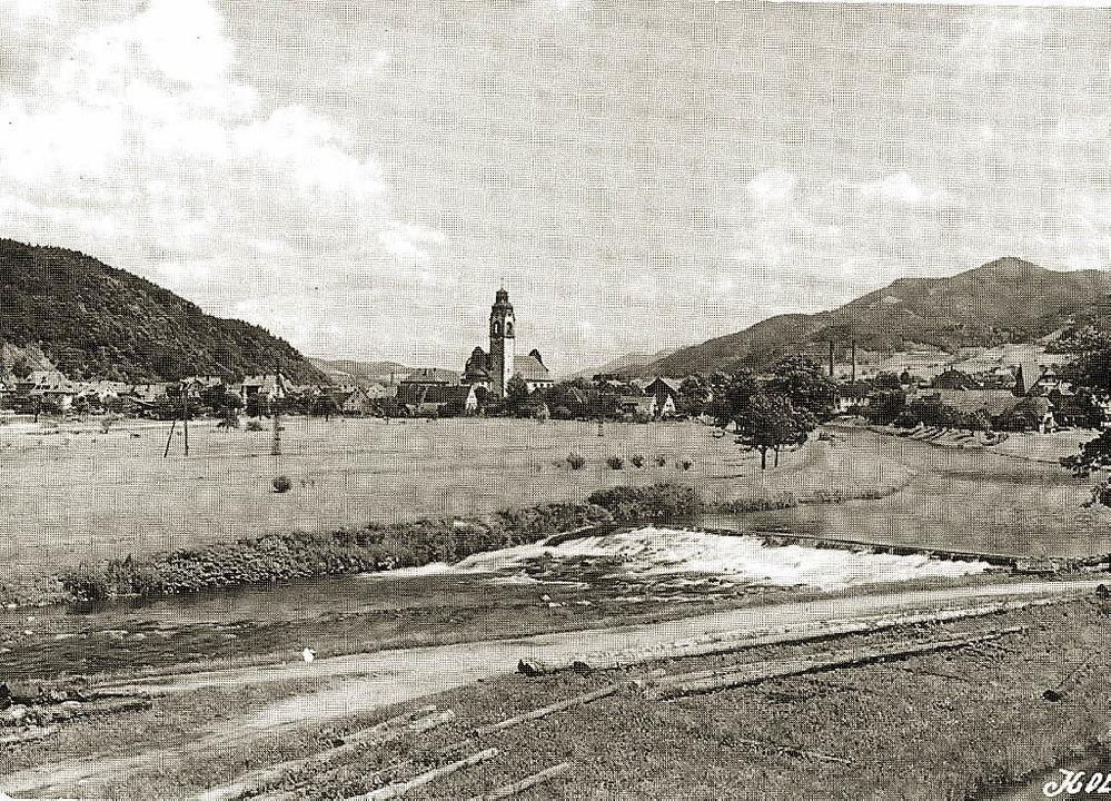 Ansicht von Kollnau, fotografiert im J...39 von der Waldkircher Stadtsäge aus.   | Foto: Sammlung Florian Ücker