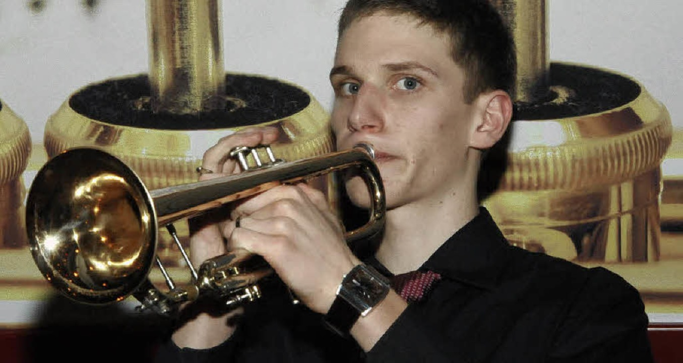 Thomas Reichenbach bestand erfolgreich...rüfung zum goldenen Jungmusikabzeichen  | Foto: Markus Zimmermann