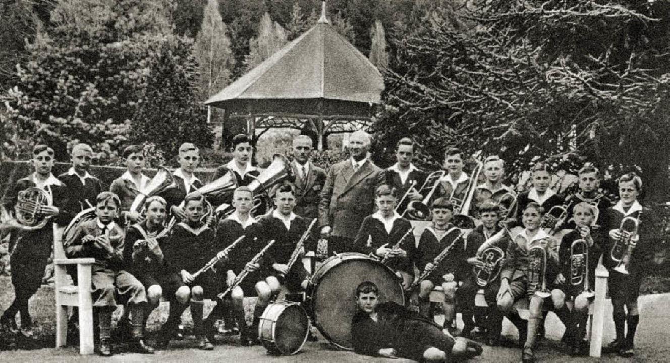 Die Schülerkapelle des Stadtmusikvereins Emmendingen im Jahre 1933  | Foto: Privat
