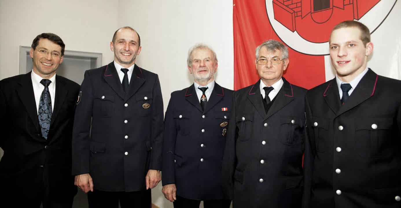 Ehrungen standen an  bei der Feuerwehr... Marko, Franz Ibig und Simon Vierling     Foto: dec