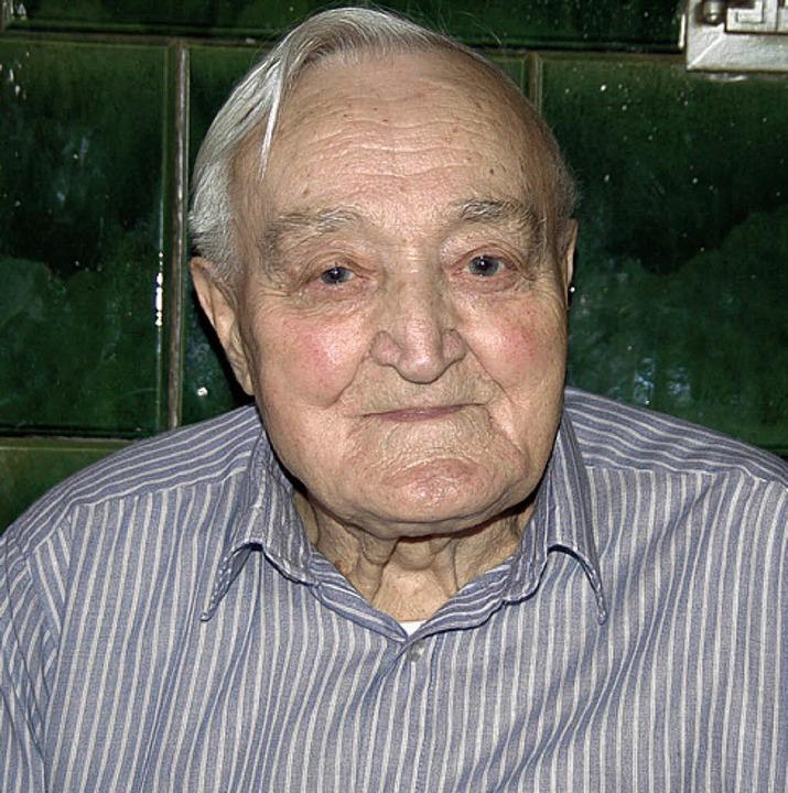 Hermann Schätzle feiert heute den  90. Geburtstag.     Foto: Ulrike Jäger