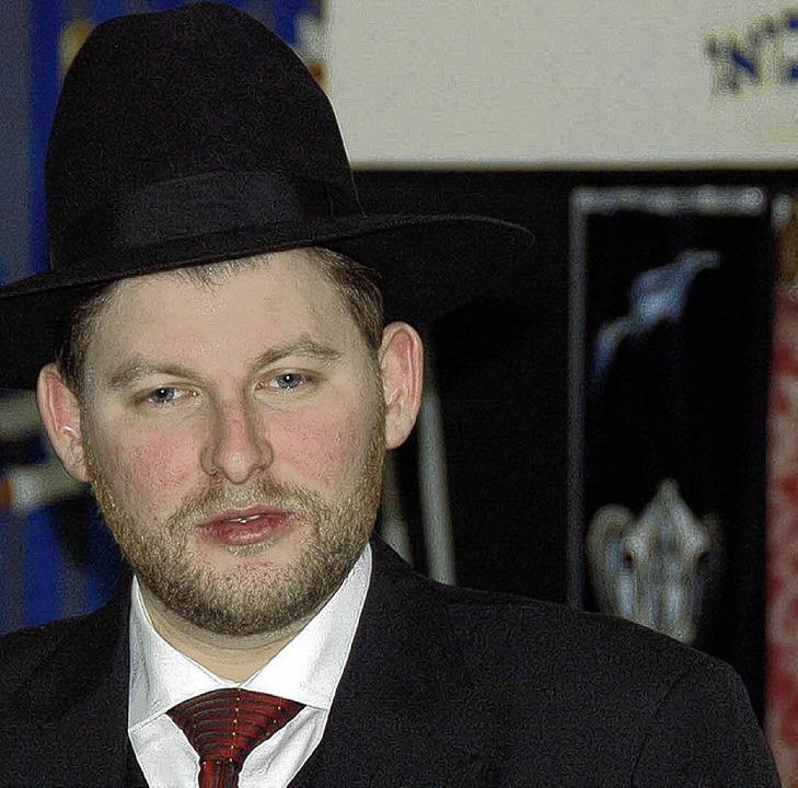 Moshe Flomenmann, der neue Rabbiner der Lörracher Gemeinde.   | Foto: Nikolaus Trenz
