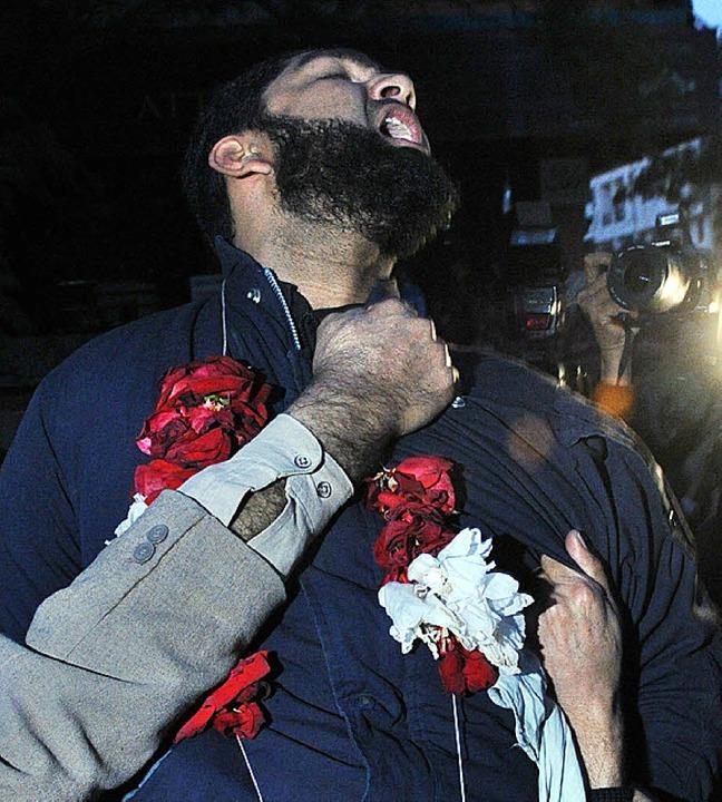 Der Täter  nach seinem ersten  Gerichtstermin   | Foto: AFP