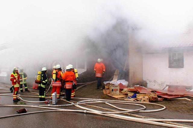 Großbrand: Altes Bauernhaus im Hotzenwald nicht zu retten