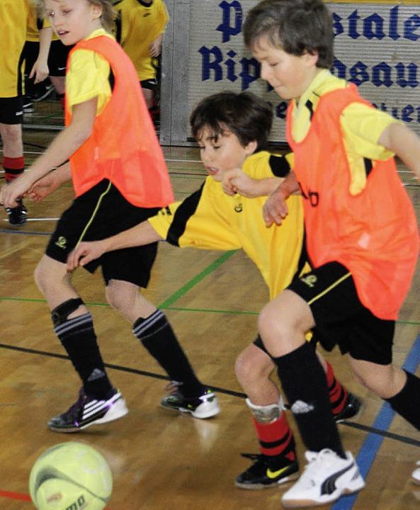 Viel Einsatz zeigten die Jugendfußball...r Spvgg Brennet Öflingen an Dreikönig.  | Foto: miloslavic