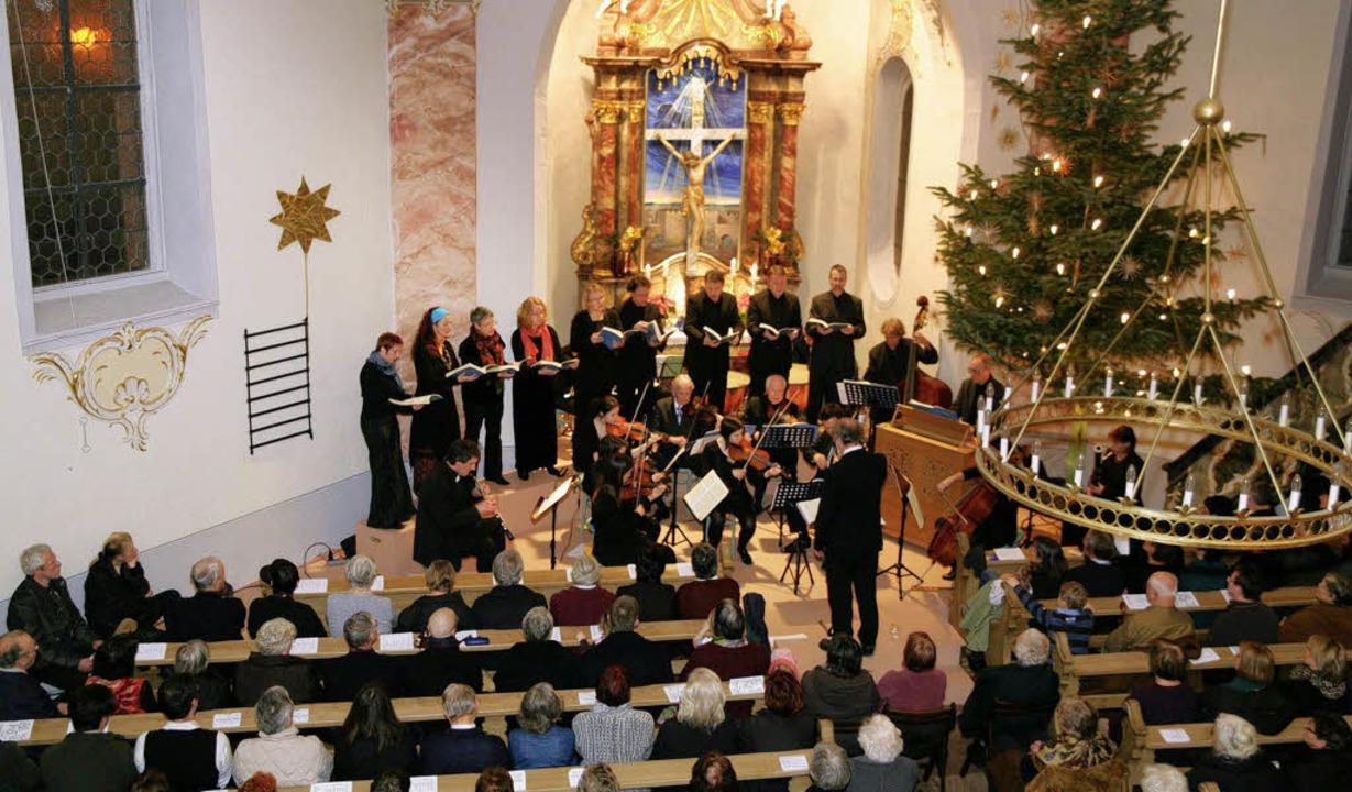 Eine grandiose Aufführung von Händels ...der evangelischen Kirche in Mahlberg.     Foto: sandra decoux-kone