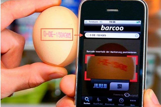 Barcoo: Eine App will Dioxin-Eier erkennen