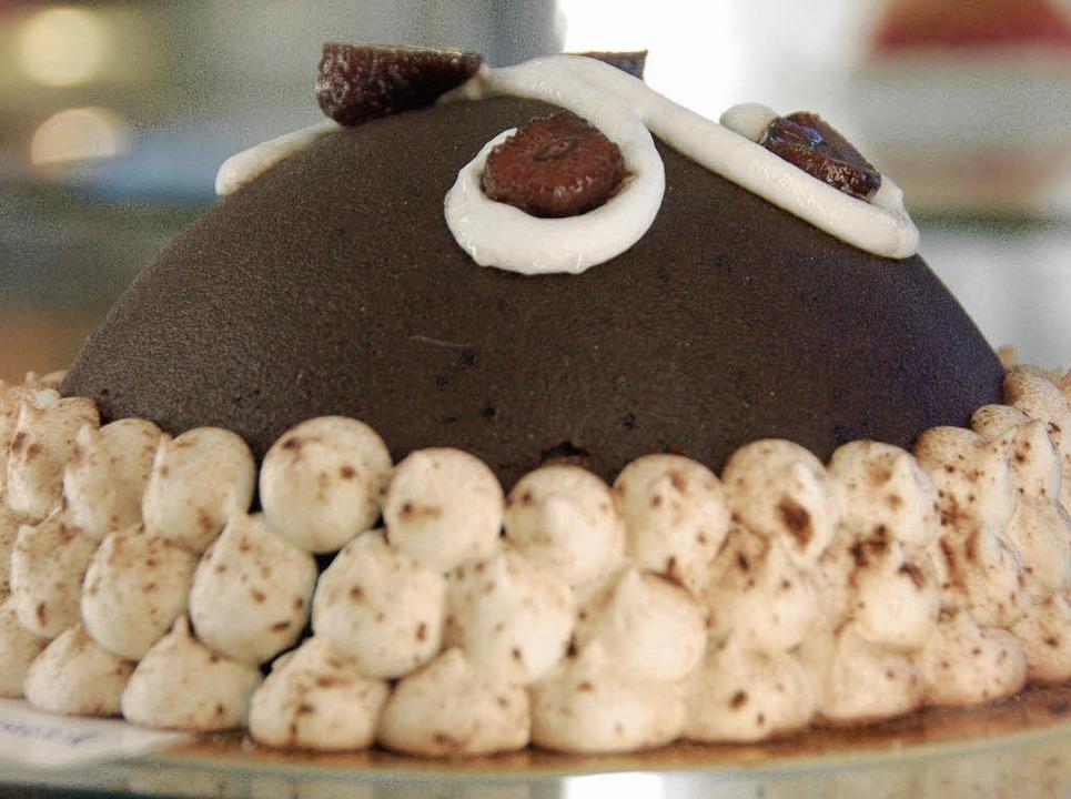 Schokolade, Sahne, süße Früchte und edle Pralinen im  Jubiläumswürfel xxx    Foto: Susanne Müller