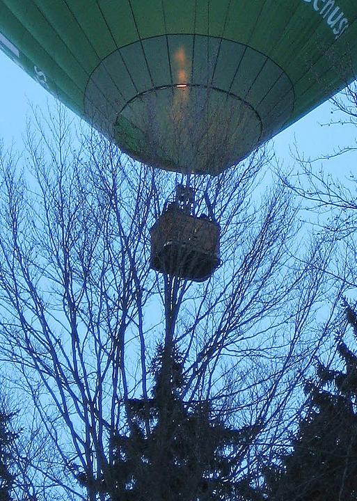 Ballon auf Abwegen.  | Foto: Theresia Kaiser