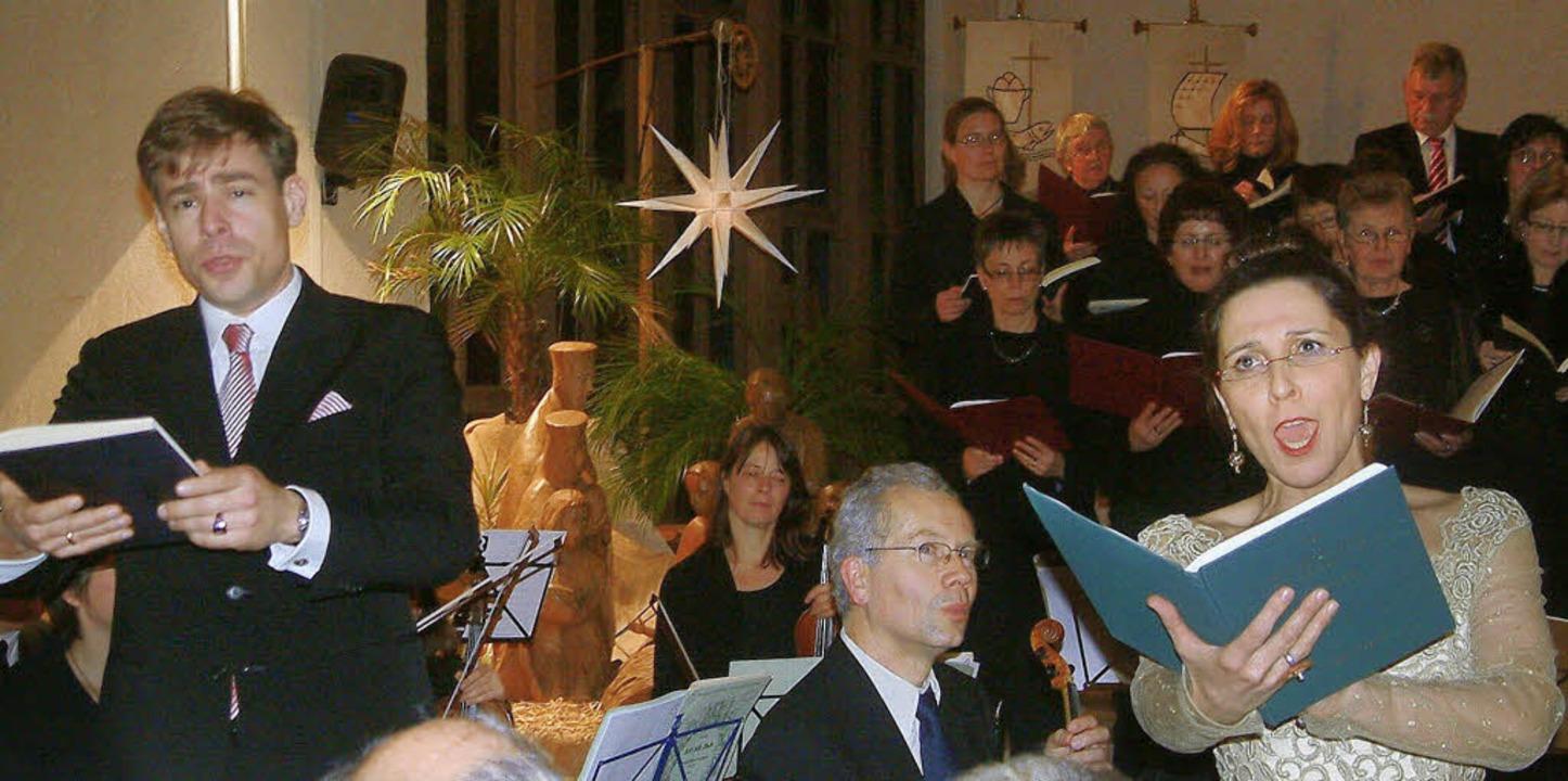 Als Solisten glänzten Sylvia Nopper un...in der Grenzacher Kirche St. Michael.     Foto: Roswitha Frey