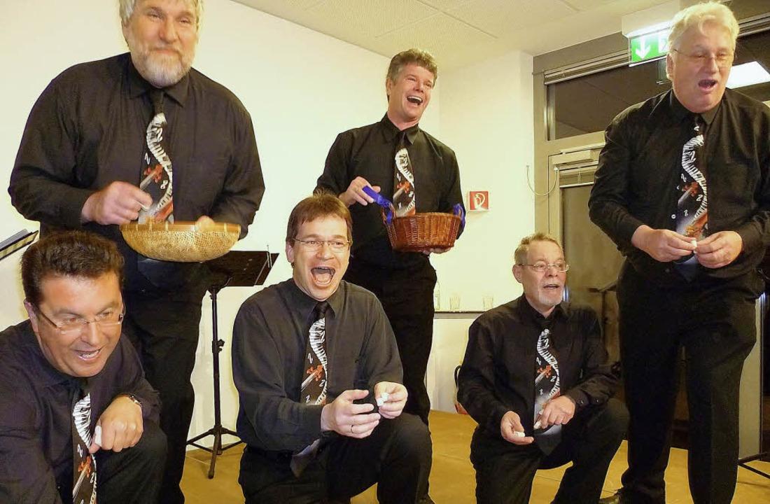 Wie gewohnt in allerbester Sangeslaune...chen Feelharmoniker am Dreikönigstag.     Foto: Claudia Gempp