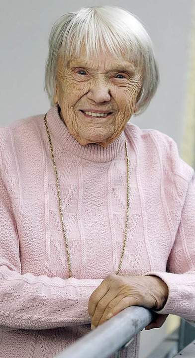 Gertrud Ketterer wird heute 104 Jahre alt.   | Foto: Peter Heck