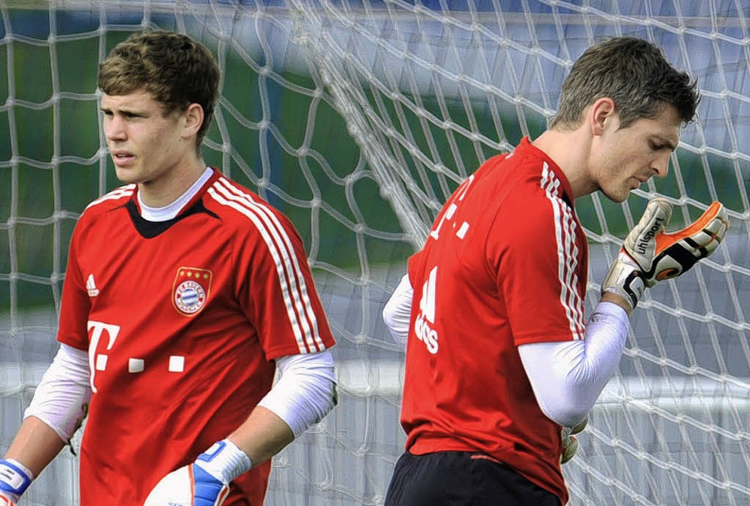 Löst Thomas Kraft (links) Jörg Butt im Bayern-Tor ab?    Foto: dpa