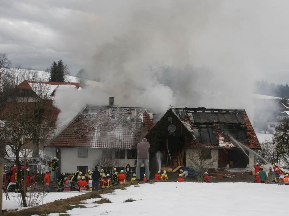 Das Anwesen war nicht mehr zu retten.  | Foto: Martin Ganz