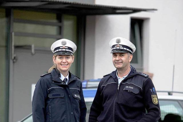 Lieferstau beim Polizistenblau