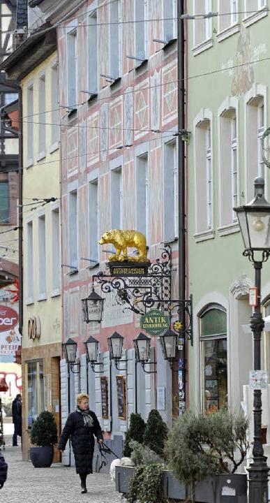 Seit 700 Jahren: Der Bären in der Salzstraße.  | Foto: Schneider