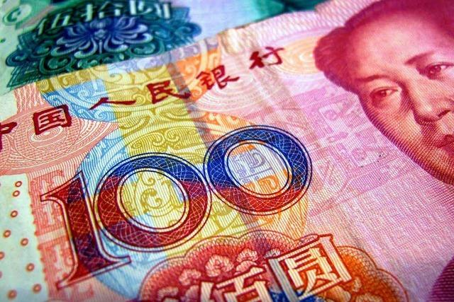 China hat 2,8 Billionen Dollar übrig
