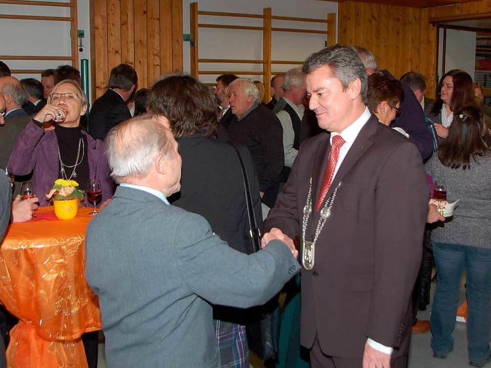Bürgermeister Volker Kieber begrüßte z...ährigen Neujahrsempfang in Gottenheim.  | Foto: Manfred Frietsch