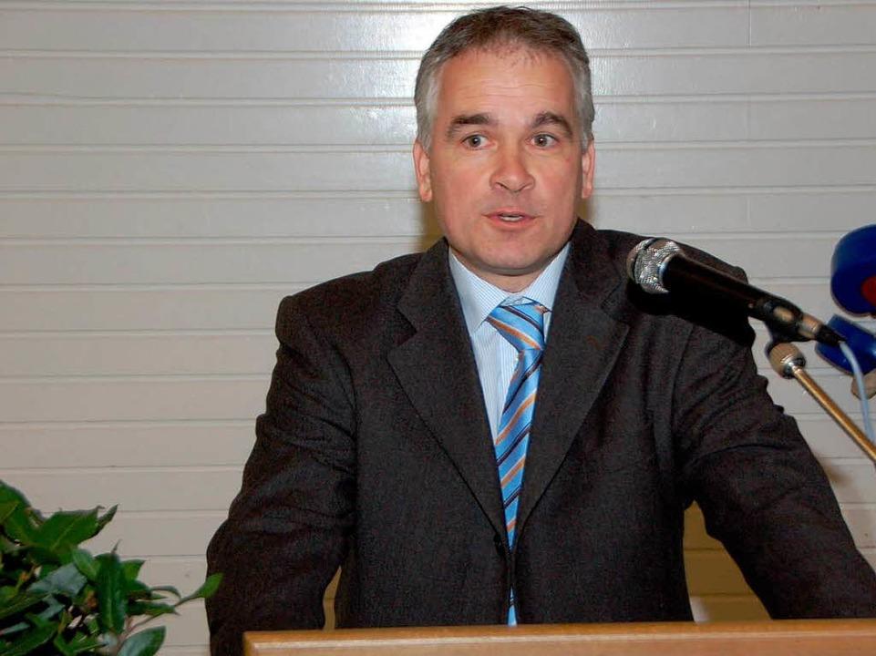 Frank Braun, Vorsitzender des Gewerbev...Gewerbeschau für den 18. September an.  | Foto: Manfred Frietsch