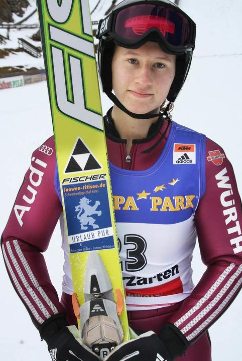 Ramona Straub vom SC Langenordnach spr...en 24. Platz und belegte dann Rang 26.  | Foto: Dieter Maurer