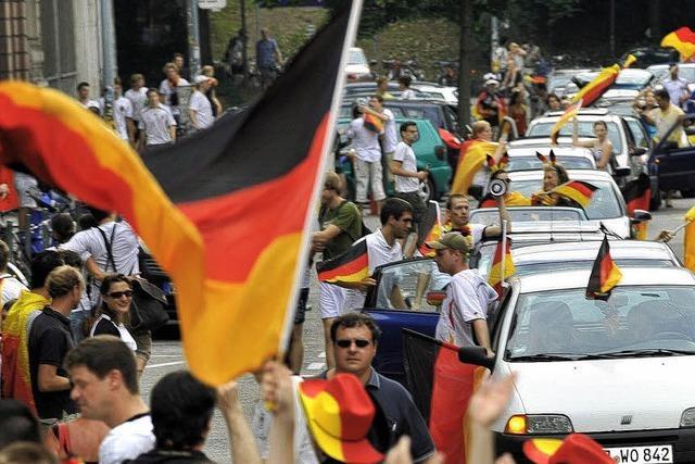 Flagge in Flammen