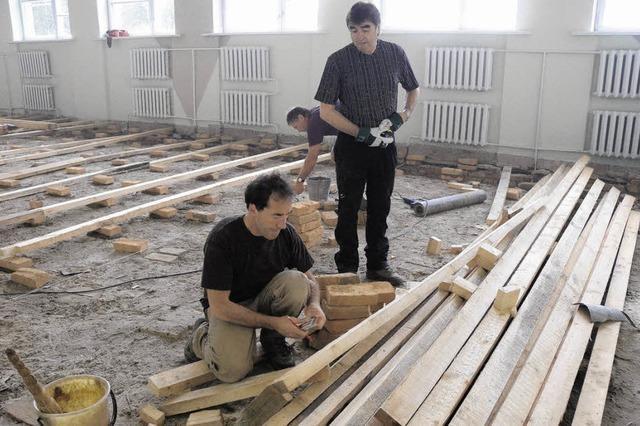 Sporthalle in Ritschow bekommt einen neuen Boden