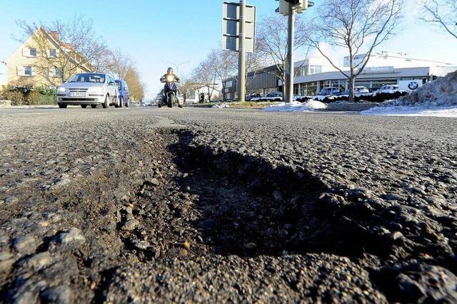 Viele Straßen in Baden sind marode – Frost ist nicht allein schuld