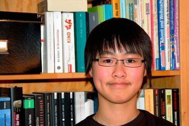 In Emmendingen ist Yi Ting aus Hongkong glücklich