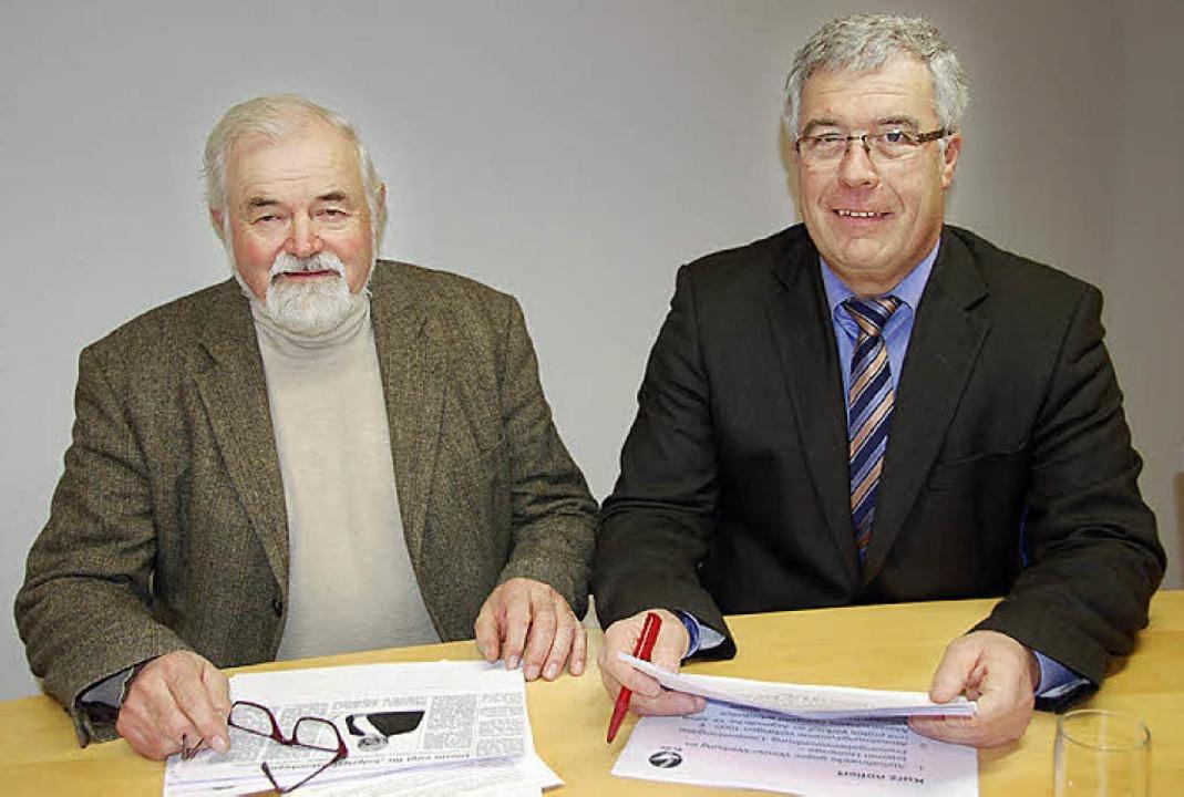 Hermann Ritter (links) und Albert Zimmermann vom Bauernverband  | Foto: Umiger