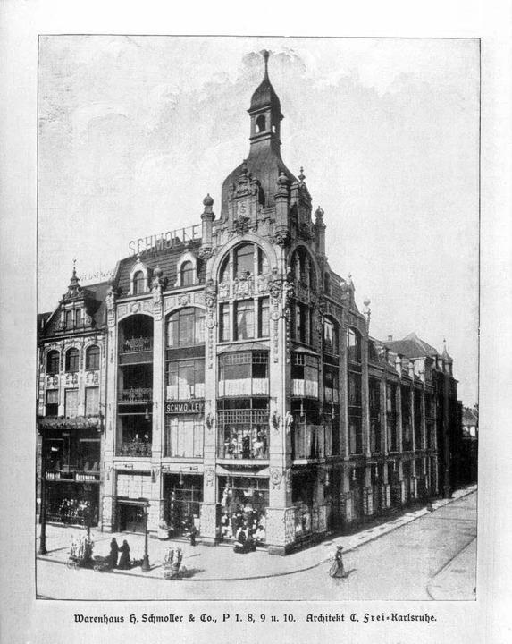 Das vom Karlsruher Architekten Camillo...ller in Mannheim wurde 1904 eröffnete.  | Foto: Stadtarchiv Mannheim