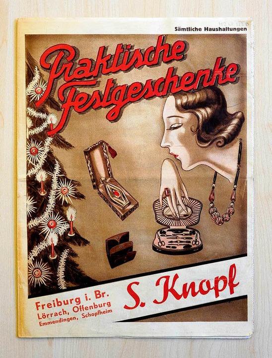 Rund 20 Seiten stark war der Weihnacht... Knopf aus Freiburg aus dem Jahr 1929.  | Foto: Thomas Kunz