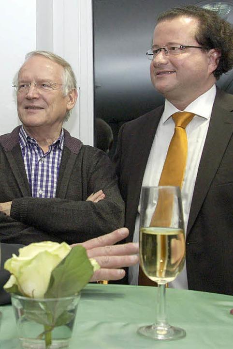 Gefragte Gesprächspartner – die ...erer Manfred Gollin und Wilhelm Stoll.  | Foto: Ingrid Böhm-Jacob