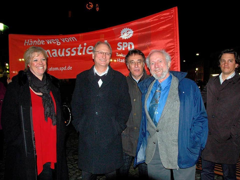 Von Weizsäcker (2. v. r.) mit Landtags...ke, Dieter Wörner und Johannes Fechner  | Foto: Sylvia-Karina Jahn