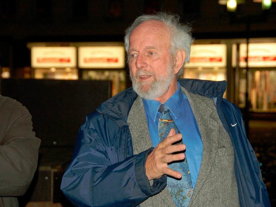 Ein Redner, der überzeugt: Ernst-Ulrich von Weizsäcker  | Foto: Sylvia-Karina Jahn