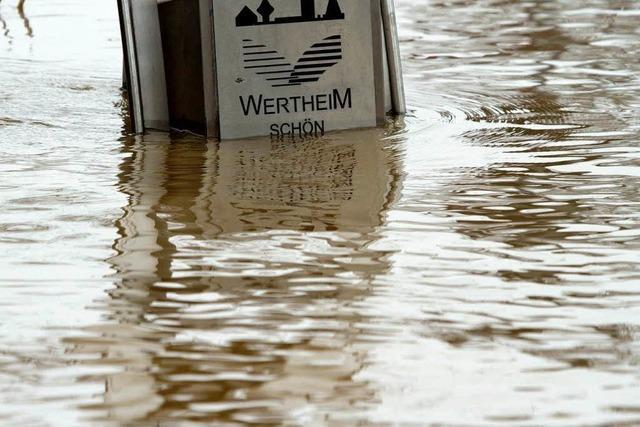 Flut mit neuem Höchststand in Wertheim