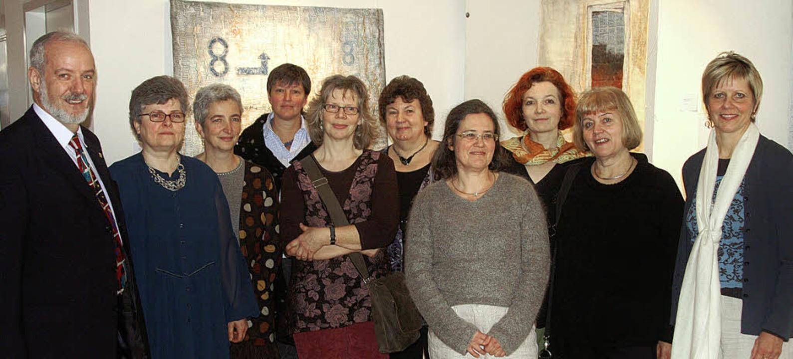 Quilt-Kunst aus der Regio: Am Sonntag ...th Nusser-Lampe und Monika Bresch       | Foto: Ilona Hüge
